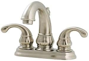"Pfister Treviso 2-Handle 4"" Centerset Bathroom Faucet, Brushed Nickel"