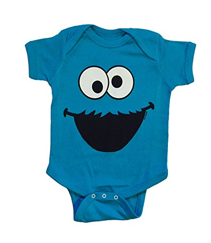 Sesame Street Baby Cookie Monster One Piece Snap Bodysuit