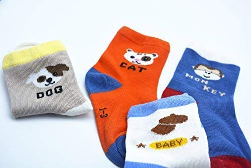 BOMPOW Baby Socks Unisex Boy Girl Toddler Sock for 1-3 Years Old Baby 10 Pack