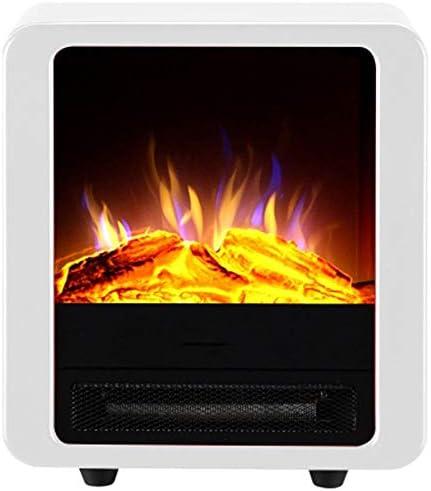 独立した電気暖炉ヒーター3Dシミュレーション炎電気暖炉コアモバイル小さな暖炉120V / 220Vの省エネ (Color : White)