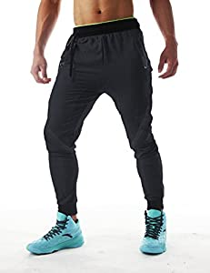 Men's Slim Gym Bodybuilding Pants Fashion Spliced Workout Running Jogger Sweatpants