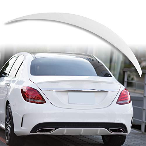 Painted A Style ABS Trunk Spoiler For Mercedes Benz C-Class W205 Sedan 2015-2019 Factory Print Code - 149 Polar White