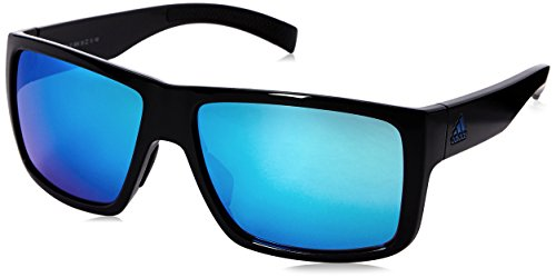 adidas Mens Matic a426 6054 Rectangular Sunglasses, Black Shiny, 59 - Sunglasses Adidas