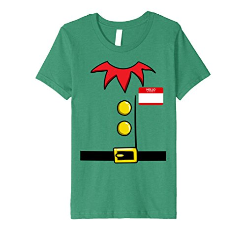 Kids Elf Christmas Group Costume Idea T-Shirt Dwarf Name Plaque 6 Kelly (Frat Boy Halloween Costume Ideas)