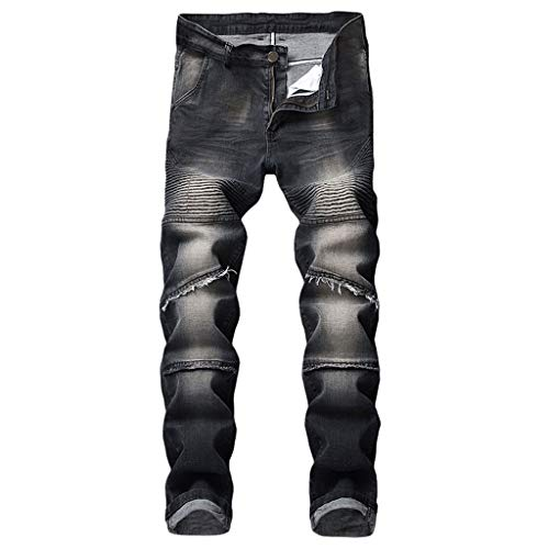 - Sunmoot Men's Ripped Jeans,Newest Men Slim Fit Skinny Stretchy Biker Destroyed Taped Denim Pencil Pants