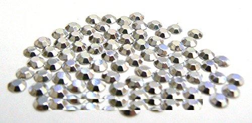 BORCHIE SFACCETTATE 6mm Argento 80pz Termoadesive grigio silver scarpe maglie Giorgetti Strass
