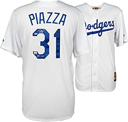 online store b5ce1 f38b5 Mike Piazza Los Angeles Dodgers Autographed White Replica ...