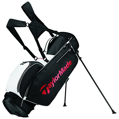TaylorMade TM 5.0 Stand Golf Bag, Black/White/Red