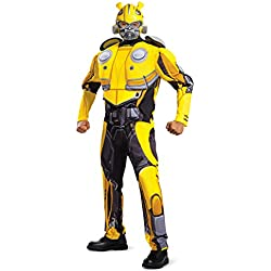 Disguise Men's Bumblebee Movie Classic Muscle Adult Costume, Yellow, L/XL (42-46)