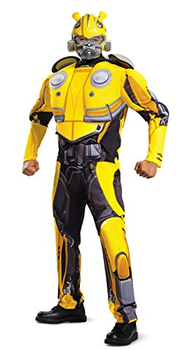 Men's Bumblebee Movie Classic Muscle Adult Costume, Yellow