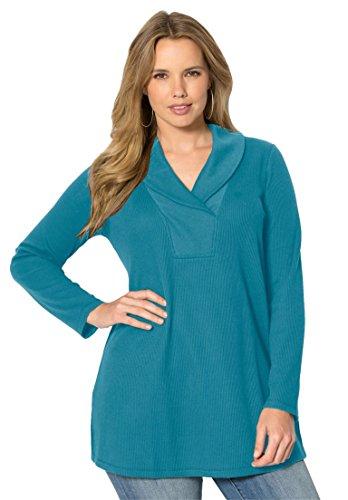 Roamans-Womens-Plus-Size-Thermal-Shawl-Tunic