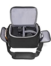 Shoulder Camera Bag Cwatcun Water Resistant Sling Camera Bag for Nikon Canon Sony Pentax Olympus Panasonic Samsung & Many More SLR DSLR and Photography Accessories Large Black