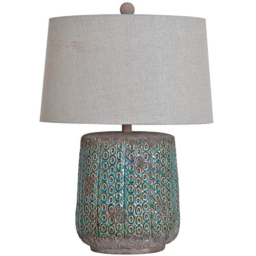 Antique Green 26-inch Table Lamp - N/a Blue Traditional