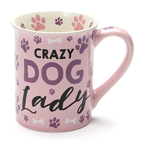 - Crazy Dog Lady Purple Paw Prints 16 Ounce Ceramic Coffee Mug