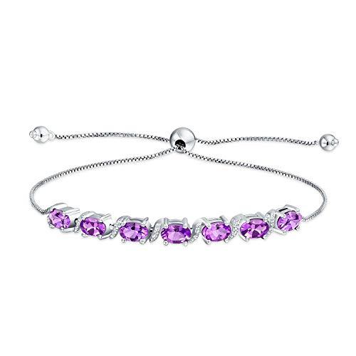 (9.25CT Purple Grape Oval Tanzanite Natural Zircon Bolo Tennis Bracelet For Women 925 Sterling Silver Adjustable)