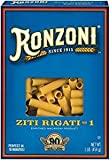 Ronzoni Ziti Rigati Non GMO 16 Oz. Pack Of 3.
