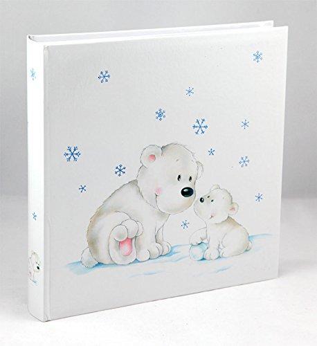 Ideal Eisbär Fotoalbum 30x30 cm 100 Weiße Seiten Baby Kinder Foto Album Fotobuch