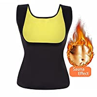 Women's Slimming Neoprene Vest/Pants for Weight Loss, Hot Sweat Body Shaper Thermo Workout Waist Trainer Thigh Belly Fat Burner Sauna Suits Capris Leggings Black by Bolkopess