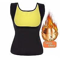 Bolkopess Neoprene Slimming Body Shaper for Women Hot Sweat Sauna Vest Tank Top Weight Loss Shapewear Waist Trainer Suit Belly Fat Burner Black