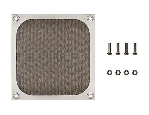 120mm 12cm Aluminum Mesh Fan Filter Finger Guard Grill, Silver Color, with Screws & (Aluminum Fan Filter)