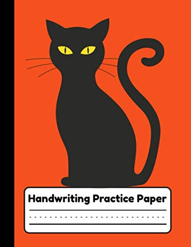 Halloween Spelling Words Grade 3 (Handwriting Practice Paper: Primary Composition Notebook For Kids, Preschool to Elementary School Grade Students, Black Cat on Orange)
