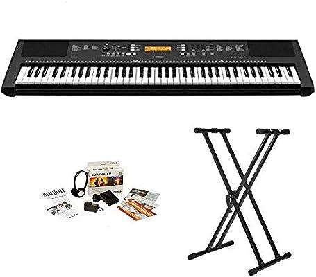 38b70b9dbde Amazon.com  Yamaha PSREW300 76-key Portable Keyboard With Knox Stand and Power  Supply  Musical Instruments