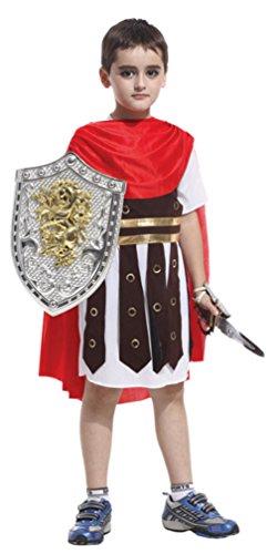 Kids Spartan Warrior Costumes (Kids Pirate Captain Role Play Boys Skull Sailor Halloween Cosplay Costumes (Medium))