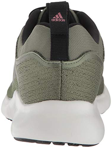 adidas Women's EdgeBounce Running Shoe Base Green/Black/Trace Maroon 5 M US by adidas (Image #2)