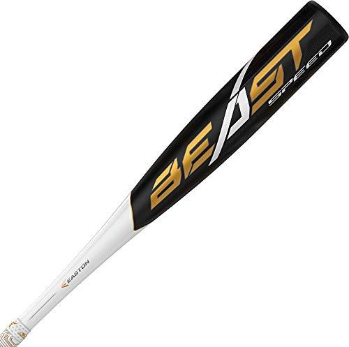 "EASTON Beast Speed -10 (2 5/8"") USA Youth Baseball Bat | 31 inch / 21 oz | 2019 | 1 Piece Aluminum | ATAC Alloy | Speed End Cap | Lizard Skin Grip from Easton"