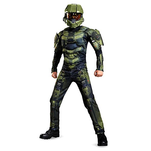 Master Chief Classic Muscle Costume, Large (10 Halloween Costumes)