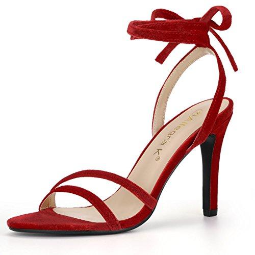 Red Up Toe Lace Allegra Open Women Heel High Sandals K Stiletto qxvBfwAO