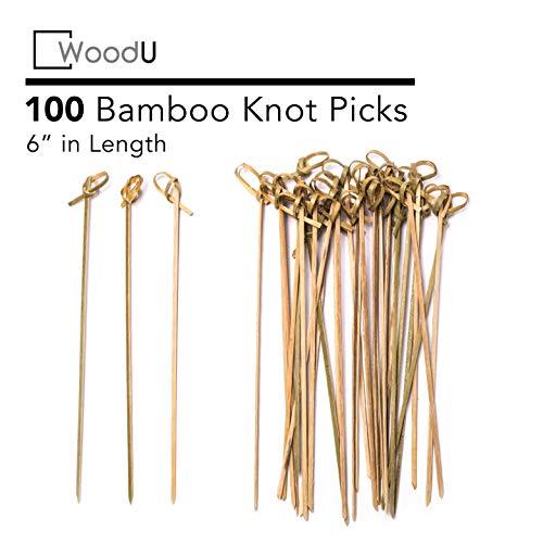 Bamboo Knot Picks 100pc 6