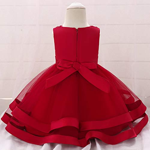 Formal Paillettes 0 Bowknot Bambini Toddlers Sleeveless Party Dress Princess Wine Per Anni 5 Floral Baby Girls Wedding Flower Compleanno xFZCXvXw