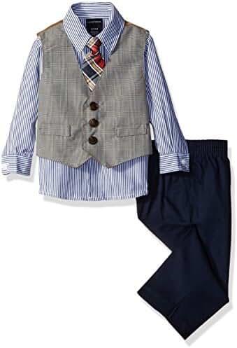Nautica Baby Boys'' Glen Plaid Vest Set