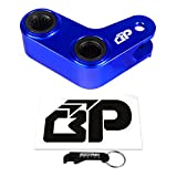 BlackPath - Yamaha 1.5 Inch Adjustable Rear Lowering Link Kit YZ400 + YZ426F + YZ450F + WR250F + WR450F Motorcycle Drop Links (Blue) T6 Billet