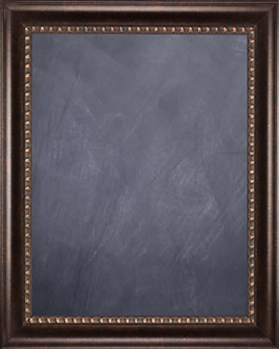 Framed Chalkboard 24'' x 36'' - with Dark Bronze Finish Scoop Frame by Art Oyster