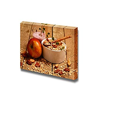 Canvas Prints Wall Art - Healthy Breakfast on The Kitchen Table - 24