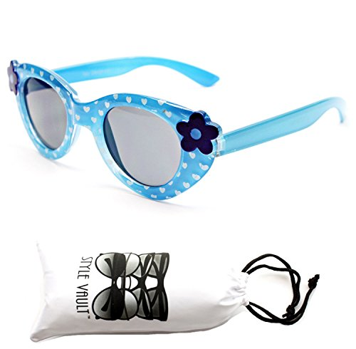 Kd209-vp Style Vault Kids 2-8yr Shape Sunglasses (8108 Blue, - Sunglasses Uv Protection Toddlers For