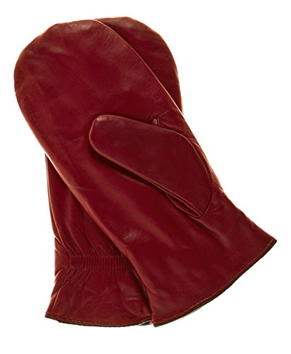 Pratt and Hart Women's Winter Leather Mittens with Finger Liners Size M Color Black