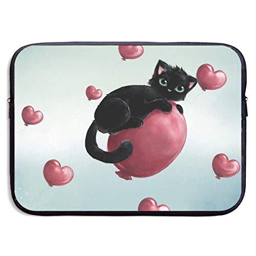 CHJOO Laptop Sleeve Bag Cute Balloon Cat Pattern 13/15 Inch