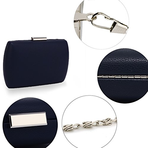 Purse Night HARD Evening Party NAVY Hard Out Handbags CLUTCH For Women's LeahWard Clutch Dinner CASE Case Wedding XwfTFfgx
