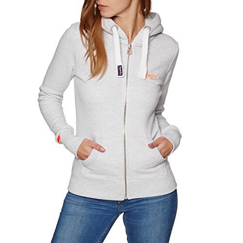 Superdry Label Felpa Primary Marl Ziphood Ice Donna wUSaFnwrq