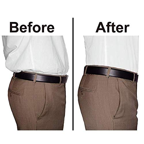 MLM Camisa Stay Camisa de hombre para cola Correas elásticas Cinturón Soporte para trabajo pesado 3 clips de ancho 1.0