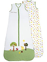 Slumbersafe Summer Baby Sleeping Bag 1 Tog - Forest Friends, 6-18 months/MEDIUM