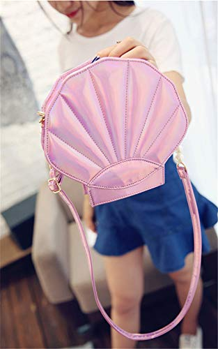 body Leather Remeehi Pink Hologram Pearl Purse Womens Shell Shoulder Cross Bags YqapOq6