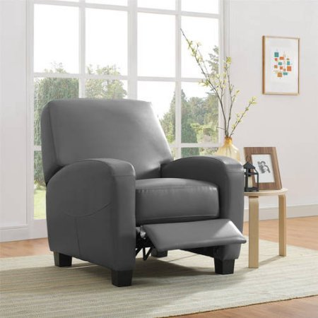 Mainstays Home Theater Recliner, Multiple Colors (Gray)
