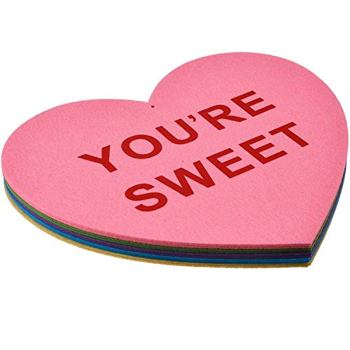 Mtlee 10 Pieces Valentine's Lawn Decorations Hanging Candy Hearts for Wedding and Party, Large -