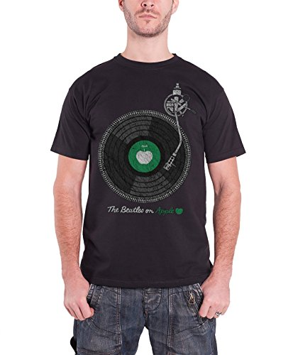 Ptshirt.com-19216-The Beatles Apple Turntable Official Mens Black T Shirt-B00RVVQA6O-T Shirt Design