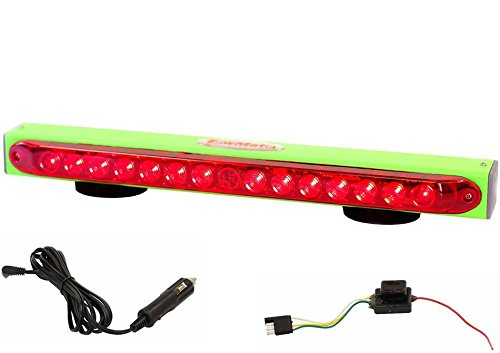 Towmate TM22G-4F with 4 Pin Flat Transmitter, TM22G 22'' Wireless Tow Light LED Stop, Tail, Turn by BA Products