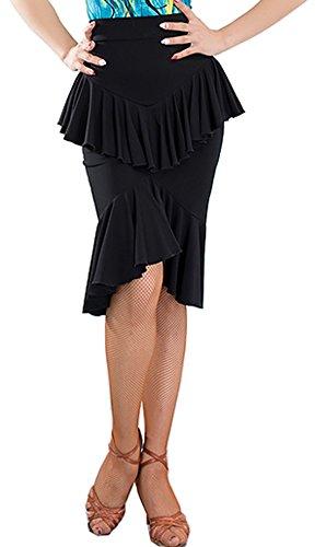 Falda Plisado Mujer Para Chagme Negro TFW5wXqd